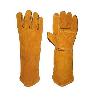 guantes para manipulación de animales vista ambos lados